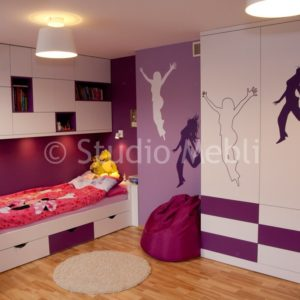 meble do pokoju dziecięcego na wymiar, łóżko dla dzieci na zamówienie